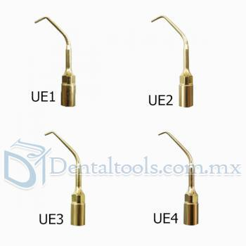 4pcs Woodpecker® CIRUGÍA PIEZO Dental Endodoncia Puntas Kit UE1 UE2 UE3 UE4 Para EMS
