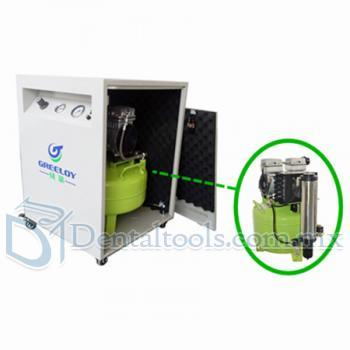 Greeloy® 800W Compresor De Aire Dental  GA-81XY Con Dryer y Silent Cabinet