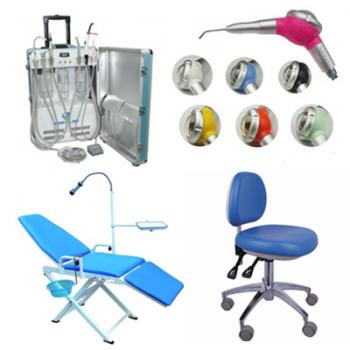 Unidad Portátil GU-P206 + Dental Air Polisher + Adjustable Operatory Chair +  Portátil Folding Chair