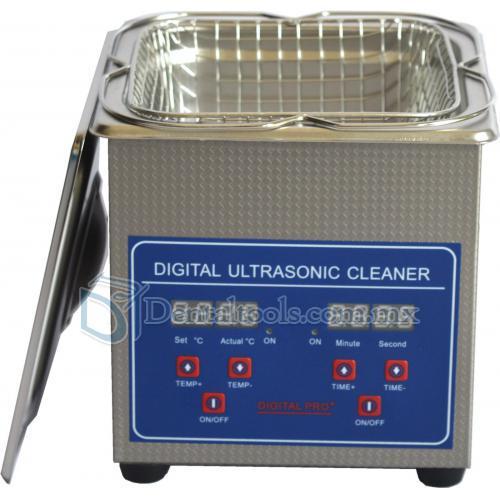 1.3L Compacto Máquina Limpiadora Ultrasónica Digital de Acero Inoxidable SUS304 JPS-08A