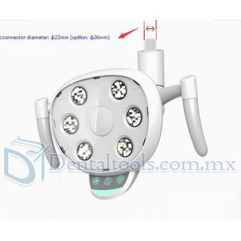 YUSENDENT Lámparas en Odontologia Oral Luz LED para unidad dental 22mm / 26mm CX249-23