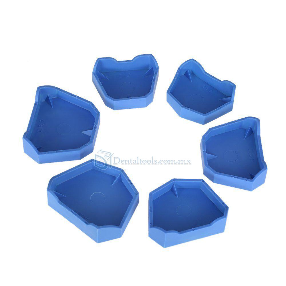 6 Pcs Bandeja de impresión dental base de modelo para laboratorio dental