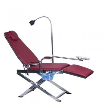 Silla Plegable Portátil Dental GU-P109S con Lámpara LED + Basurero + Bandeja