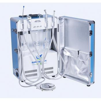 Greeloy® Dental Portátil Turbina Unit Con Compresor de Aire Suction GU-P204