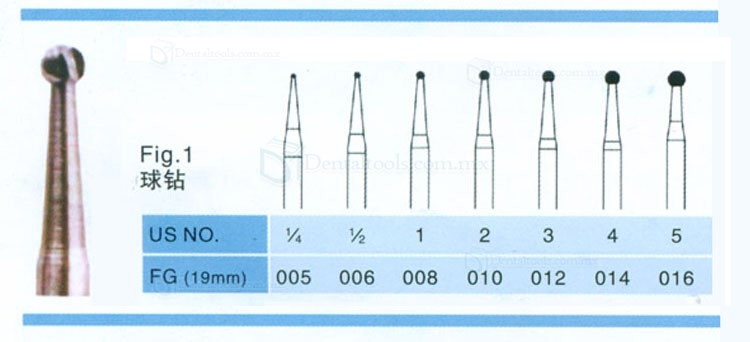 20PCS 1.6mm Carbide Burs FG016 Round